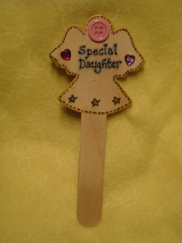 SALE** was £1.99 Angel Memorial Grave Tree Marker Crematorium Special Daughter Christmas Birthday In Memory Unique Sign Ready To Despatch (1)